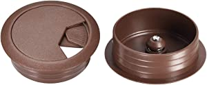 uxcell Cable Hole Cover, 2 inches Plastic Desk Grommet for Wire Organizer, 10 Pcs Brown