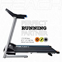 REACH T-5000 Treadmill for Fitness | 1.75 HP Motor| 3 Step Inclination | Electric Automatic Motorized Treadmill for Home use