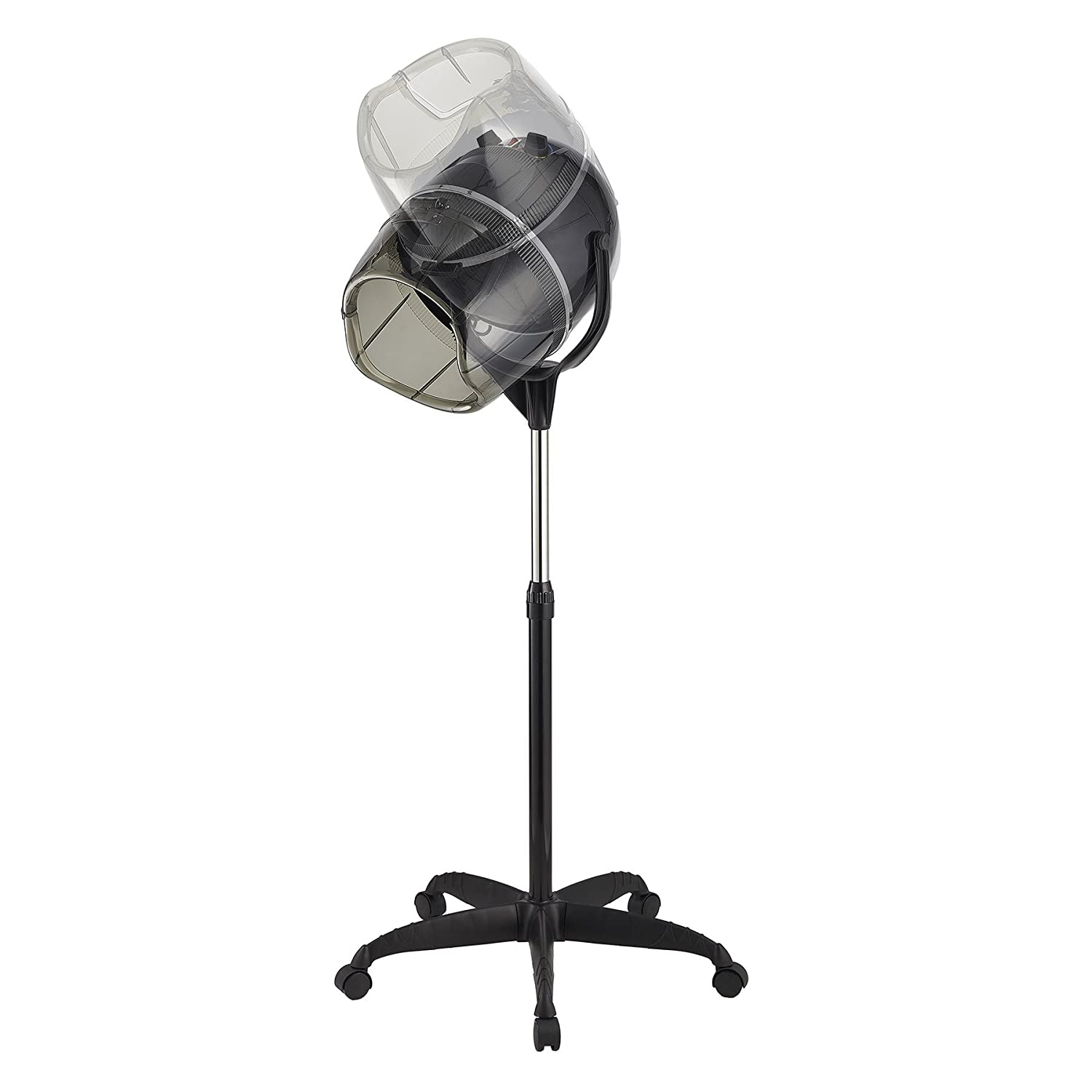 Y-NOT Professional Adjustable Hooded Stand Up Hair Bonnet Dryer, Floor Rolling Base with Wheels for Beauty Salon Equipment Home