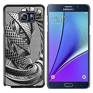 Caucho caso de Shell duro de la cubierta de accesorios de protección BY RAYDREAMMM - Samsung Galaxy Note 5 5th N9200 - entrelazan masa