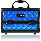 Shany Cosmetics - portafolios de maquillaje con espejo, Azul (Peacock Blue)