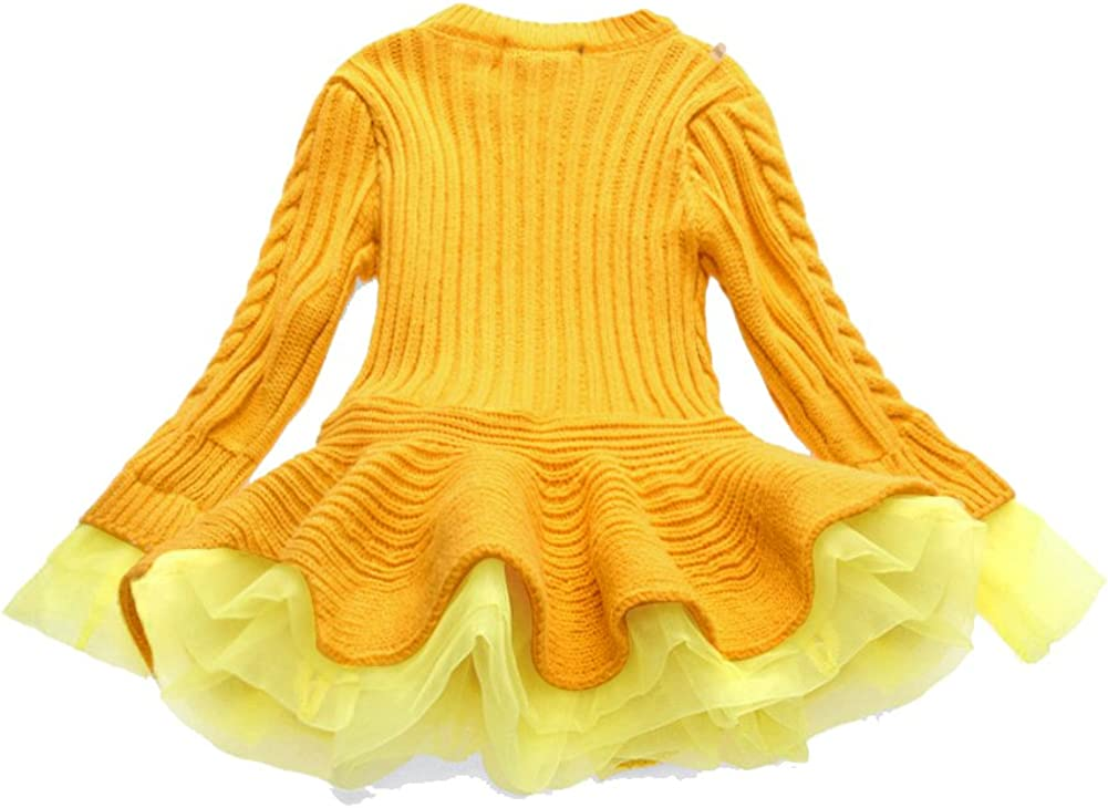 WEONEDREAM Girl Winter Long Sweater Dress