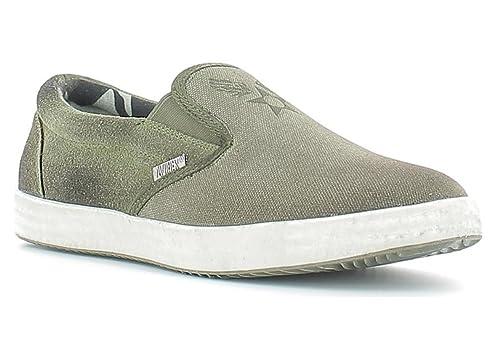 Avirex - Mocasines de Lona para hombre verde Verde media: Amazon.es: Zapatos y complementos