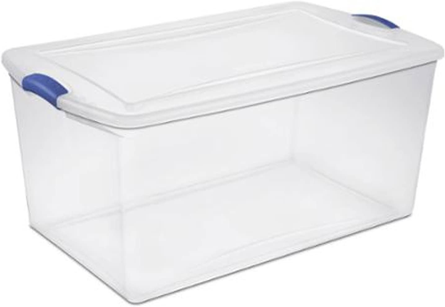 4 Pack 105 Quart Storage Organizer Box Plastic Container Bin with Lid Clear