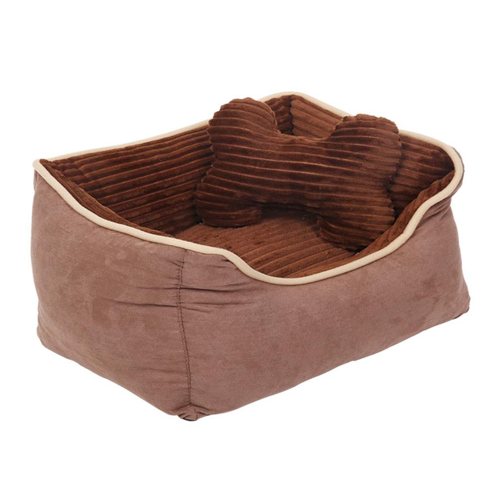 L LIULAOHAN Pet must-have items Kennel winter warm Teddy dog bed small and medium dog pet nest removable and washable pet supplies (Size   L)