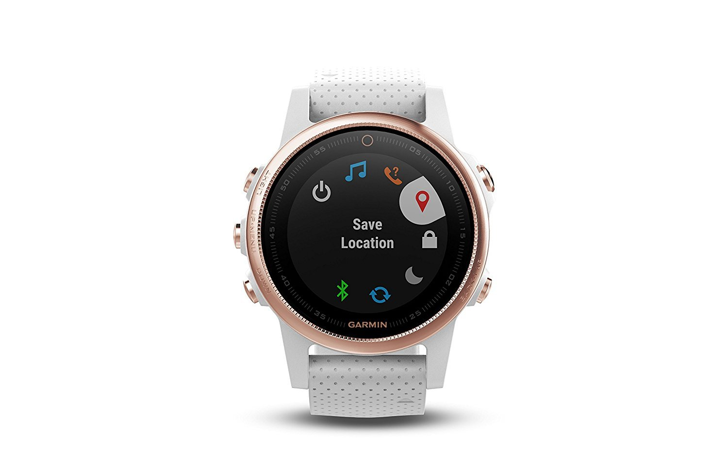 Garmin Fenix 5S - Sapphire, (Rose Gold/White Band) Bundle with PowerBank + USB Car Charger + USB Wall Charger (4 Items) by E Zee Electronics (Image #2)