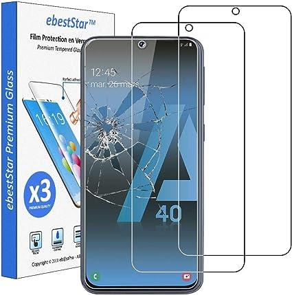 ebestStar - [Lote x3 Cristal Templado Compatible con Samsung A40 ...
