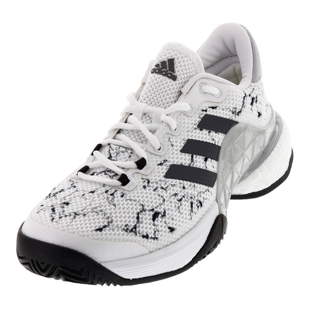 adidas 2017 Barricade Boost Mens Tennis Shoe B01N6GHDST 9 D(M) US|White/Silver Metallic/Core Black
