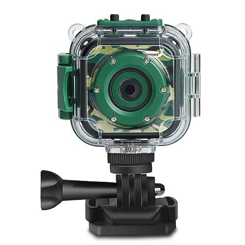 DROGRACE Children Kids Camera Waterproof Digital Video HD Action 1080P Sports Camcorder DV For