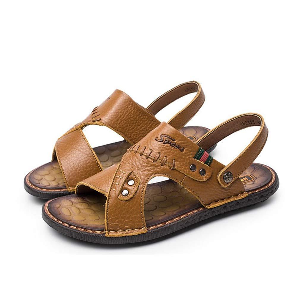 Marron Kieuyhqk Sandales de Plage à Chevrons Sandale pour Hommes Chaussures Simples Chaussures de Bateau Sandales et Pantoufles de Plage (Couleur   Marron, Taille   40 2 3 EU)