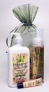 Hempz SANDALWOOD Bath & Body Gift Set - 3 pc.