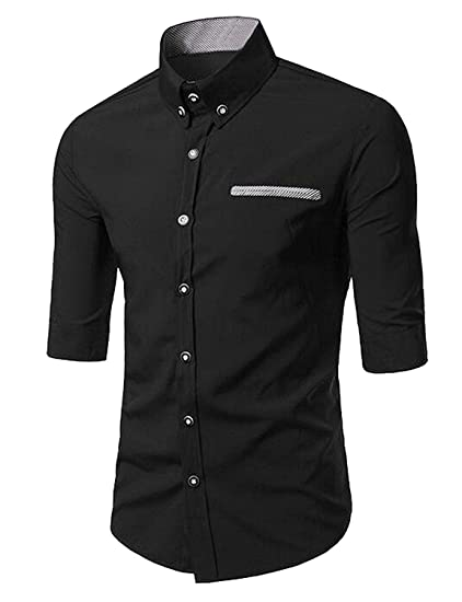 OnIn Mens Sport Western Snap-Front 3/4 Sleeves Button Shirt at Amazon Mens Clothing store: