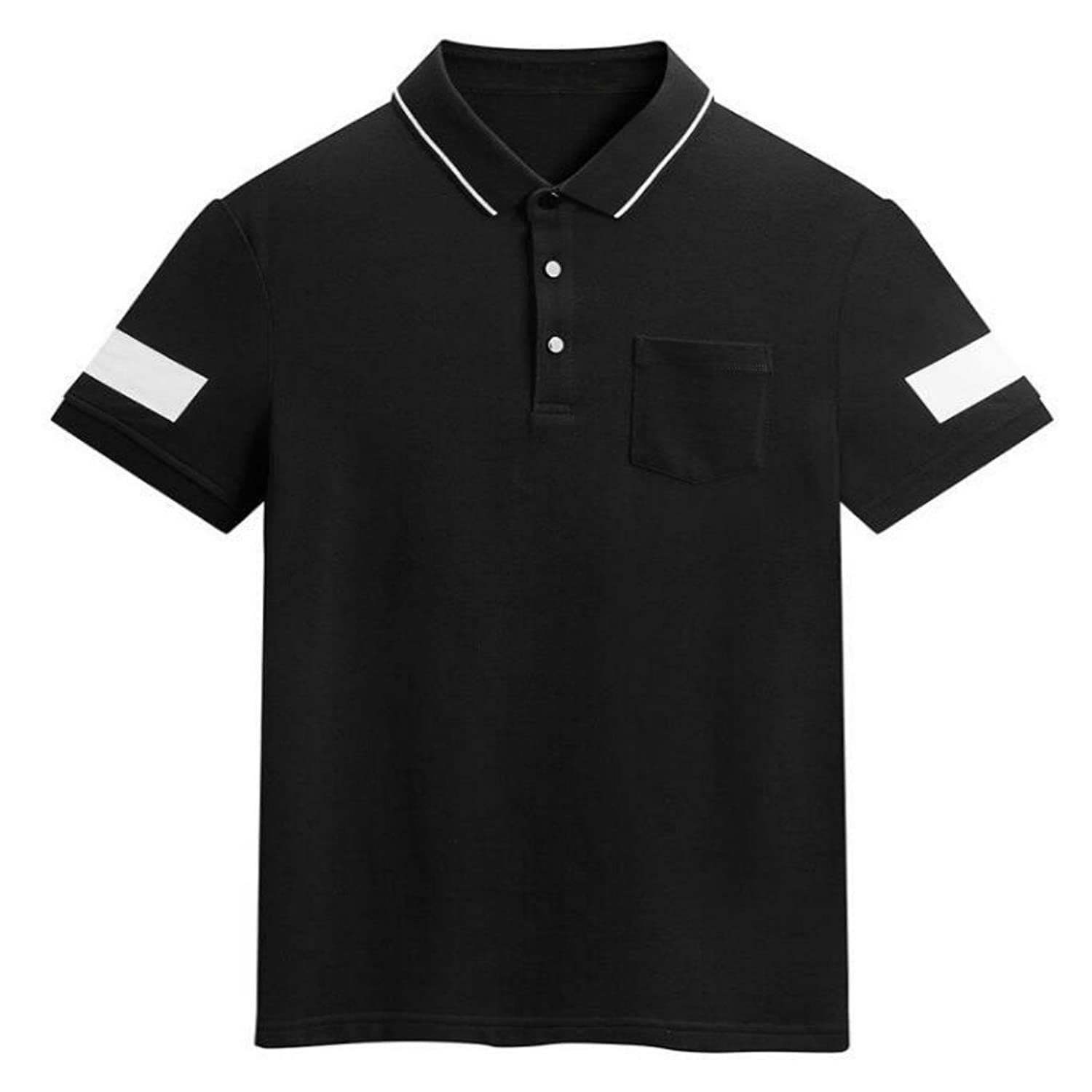 b9666dc7 Feartures:Regular fit,short sleeve,two-button placket,two tone contrast  color,real left front pocket,lightweight, easy dry button down polos
