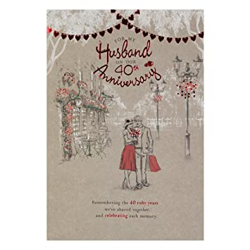 Hallmark 40th Ruby Anniversary Card For Husband Memories Weve Made