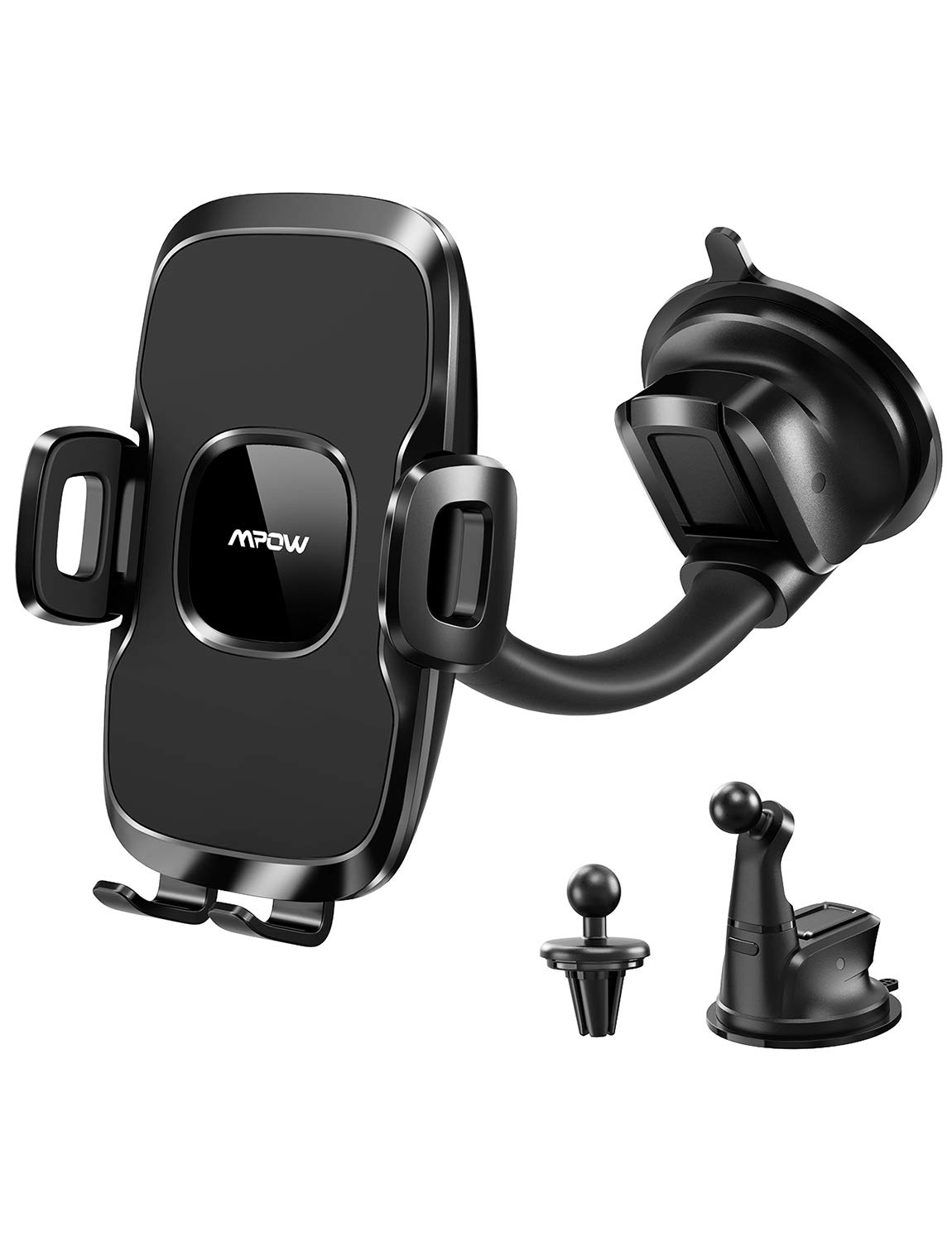 Mpow 045AB 3-In-1 Air Vent & Dashboard & Windshield Car Phone mount, Cell Phone Holder Compatible iPhone XS MAX/XS/XR/8/8 Plus/7/7 Plus, Samsung Galaxy S10/S9/S8, Google, Huawei, LG, One Plus and More