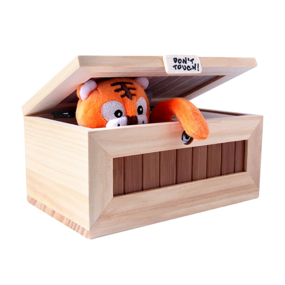 XINHOME Don't Touch Useless Box Leave Me Alone Machine-Decorative&Durable Endless Fun- Cute Tiger&Surprises Most by XINHOME (Image #1)
