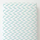 Carousel Designs Emerald Turquoise Hugs and Kisses Toddler Bed Sheet Fitted