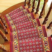 """yazi Non-Skid Carpet Stair Carpet Treads Runner Rug Rubber Backing Skid Resistant 25.5 """" x 9"""" , Pack of 13"""