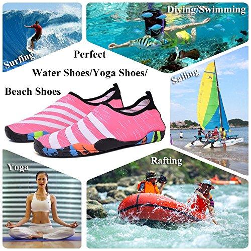Drying Yoga GAXmi Quick Shoes Barefoot Pink Women Surfing Men Water Swimming Aqua Shoes Beach for qaBpwXaAx