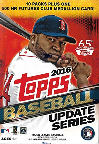 (2016 Topps Traded Update and Highlights Series MLB Baseball Box of Packs with One Exclusive Home Run Futures Commemorative Medallion Card and 10 Packs of 10 Cards, 101 Cards Total)