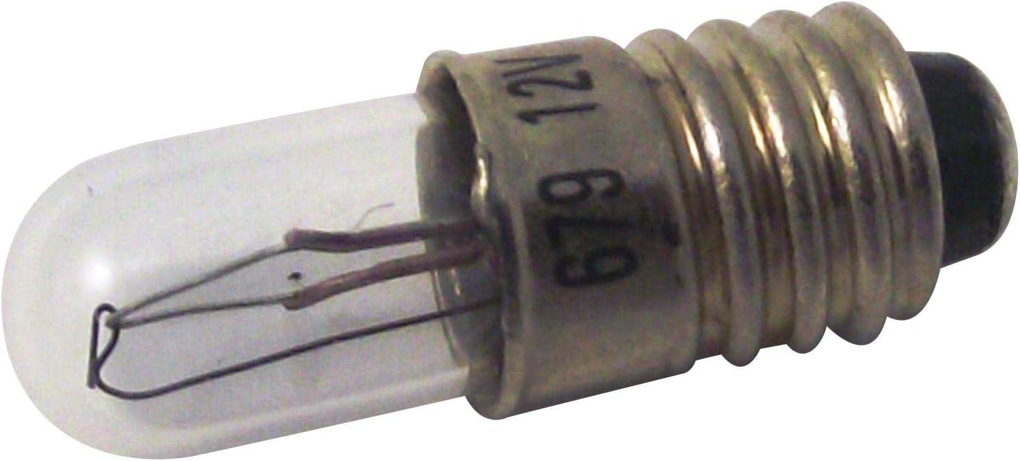 LES SVHC No LAMP LES T1.1//2 12V 0.96W Average Bulb Life 10000h Bulb Size T-1 1//2 Lamp Base Type E5