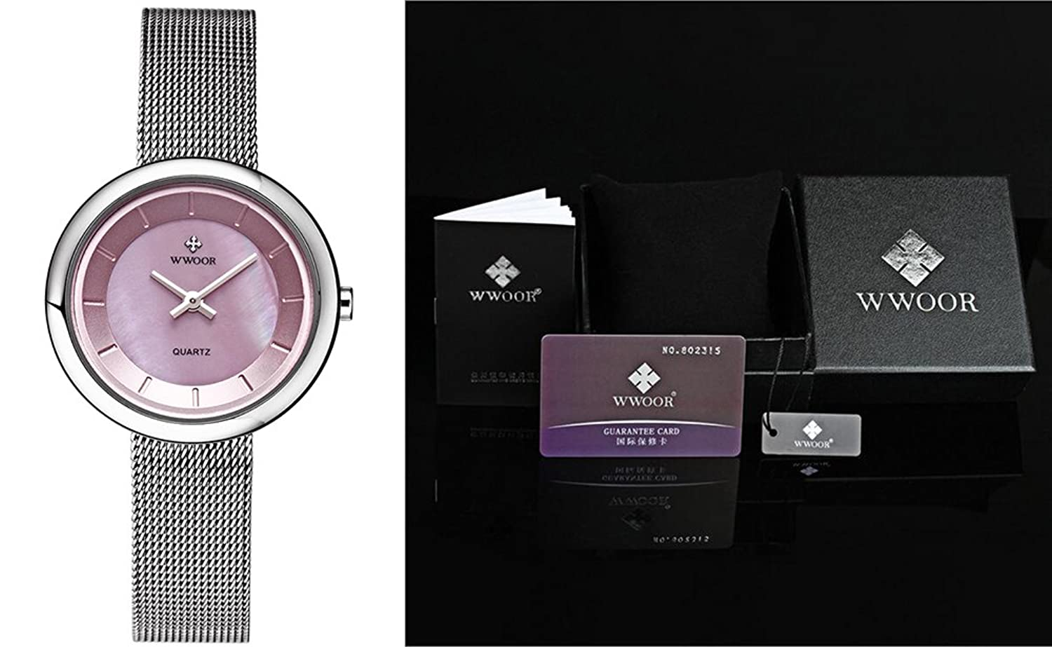 Amazon.com: WWOOR women Watches Quartz-watch coupons for Ladies Watch Women Classic Retro Stainless Straps 014(pink): Watches