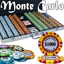 1000 Ct Monte Carlo 3-Tone Poker Chip Set w/ Aluminum Case 14 Gram Chips by Brybelly