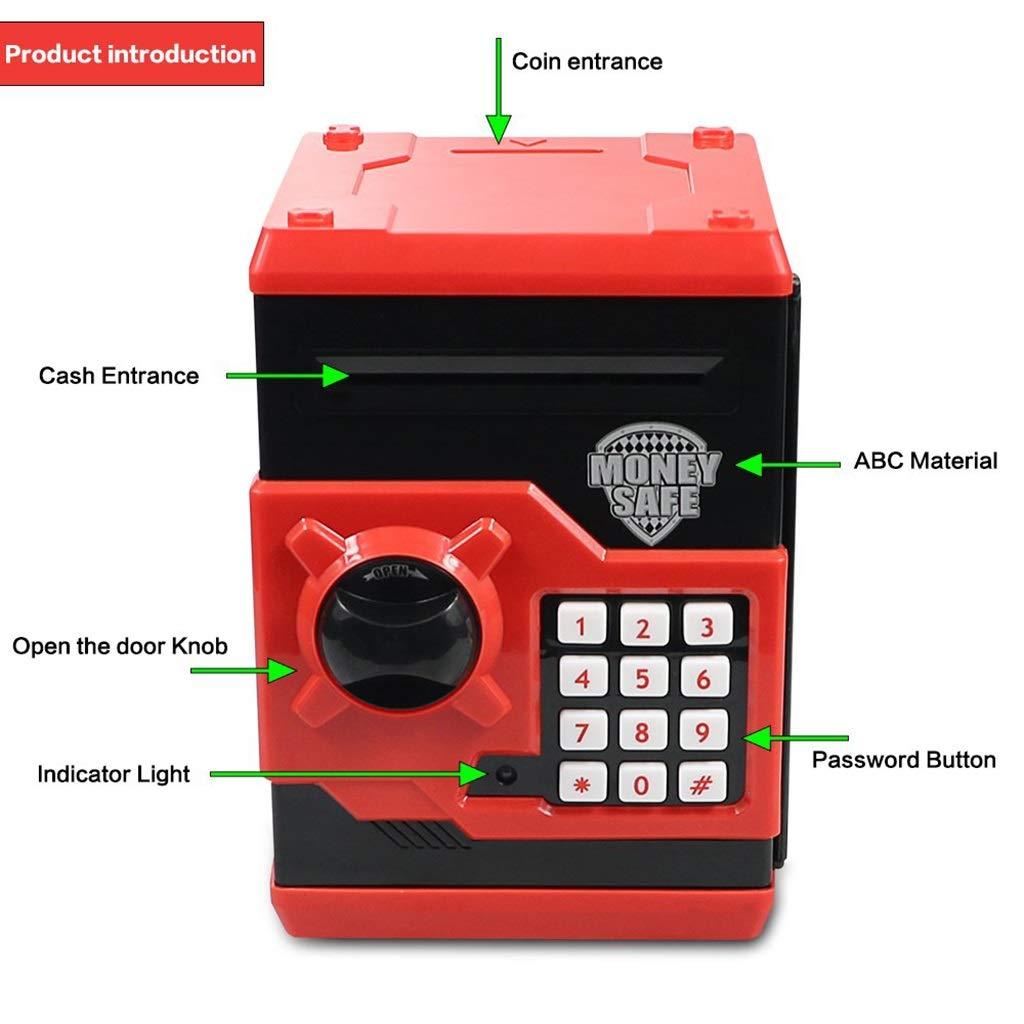 Bildungs- & Schulbedarf Ich werde jetzt Maßnahmen ergreifen Kind automatische Roll-up-Passwort Sparschwein Cartoon Saug Banknote Geldautomat großen sicheren Vorratsbehälter rot Bildungs- & Schulbedarf