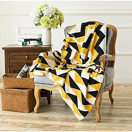 Cosy-L Manta para sofá algodón Natural Herringbone Manta para sofá ...