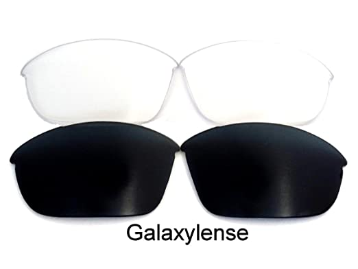 cc5cde3e81 Galaxy Replacement Lenses for Oakley Half Jacket 2.0 Black Clear Color Polarized  2Pairs - clear