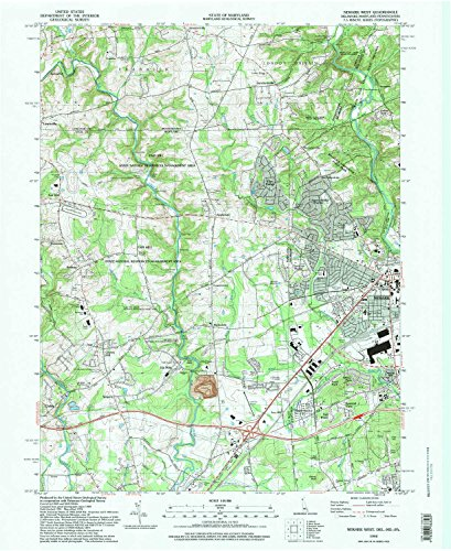 Newark West DE topo map, 1:24000 scale, 7.5 X 7.5 Minute, Historical, 1992, updated 1997, 27 x 22 IN - - Village West At Legends
