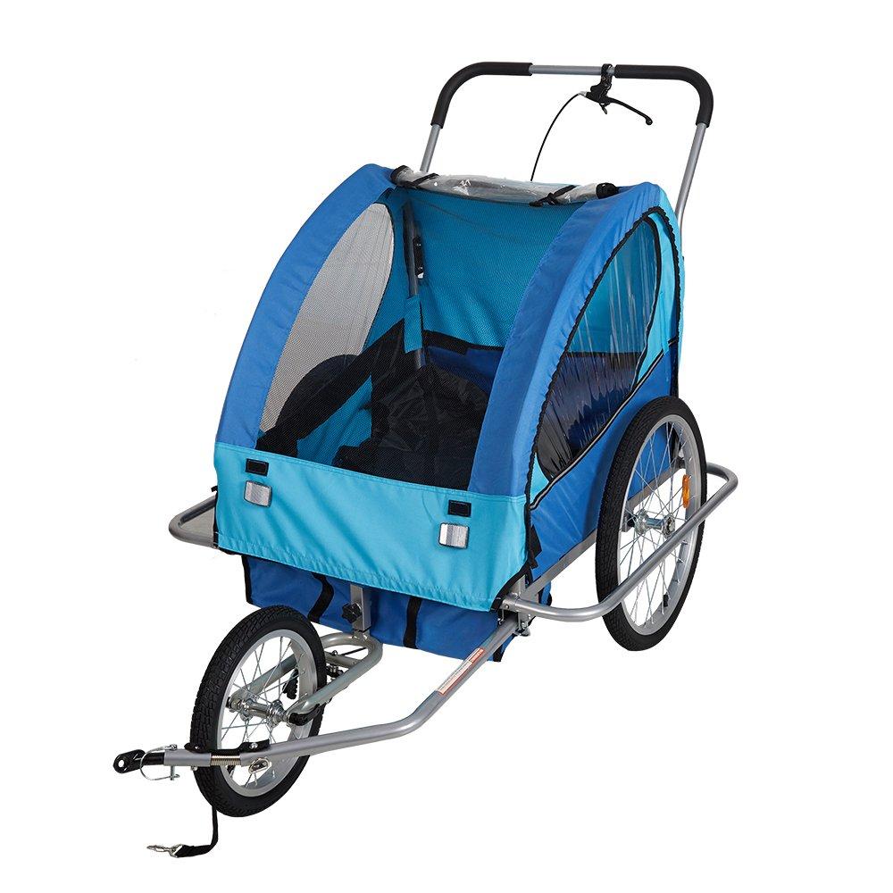 Lucky Tree Pet Dog Bike Trailer Bicycle Trailer Stroller Jogging w/Suspension(Blue)