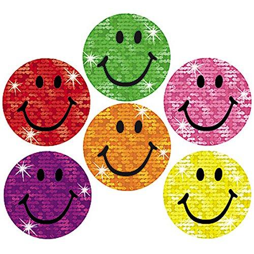 Trend Enterprises Silly Smiles Super Spots Sparkle Stickers, 160 per Package (T-46305)