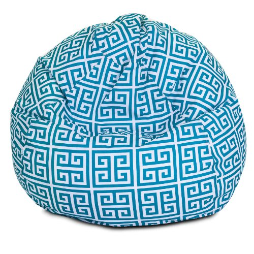 Majestic Home Goods Pacific Towers Bean Bag, Small, Turquoise by Majestic Home Goods
