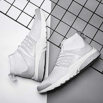 Zapatillas para Hombre Calcetines de Punto para Hombre Zapatillas de Deporte Malla de Aire Transpirable Al Aire Libre Pareja Cojín Pisos Entrenamiento Running Off White Shoes: Amazon.es: Deportes y aire libre