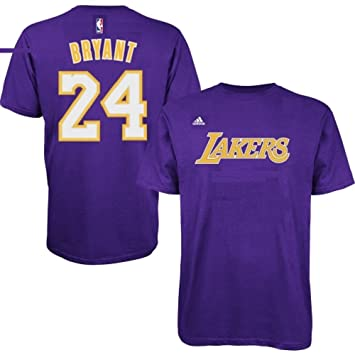 Kobe Bryant Los Angeles Lakers NBA # 24 Jóvenes reproductor de ClimaLite camiseta jersey morado: Amazon.es: Deportes y aire libre