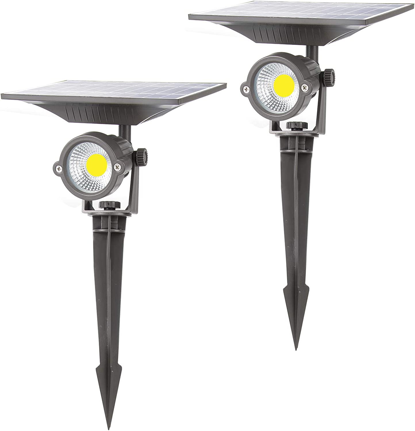 Lightdot Solar Lights Outdoor, Upgraded Waterproof Solar Powered Landscape Spotlights 2-in-1 Wall Light Decorative Lighting Auto On/Off for Pathway Garden Patio Yard Driveway Pool, 2 Pack: Home Improvement