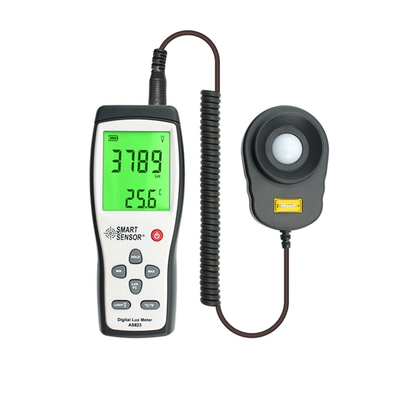 Digital Lux Meter Photometer Illuminometer Spectrometer Spectrophotometer High Precision Light Meter 200,000lux AS823 by WULE-Digital multimeter (Image #3)