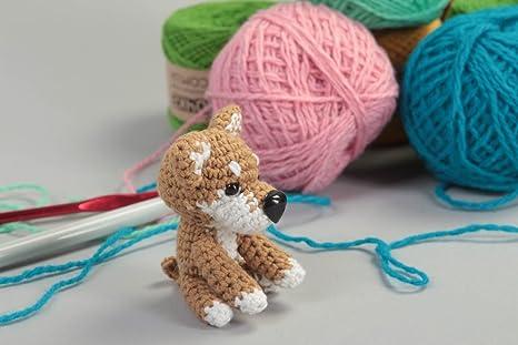 Juguete artesanal tejido a ganchillo peluche para ninos regalo original Perro