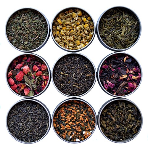 Heavenly Tea Leaves Tea Sampler (9 Flavor Variety (Loose Tea Box)