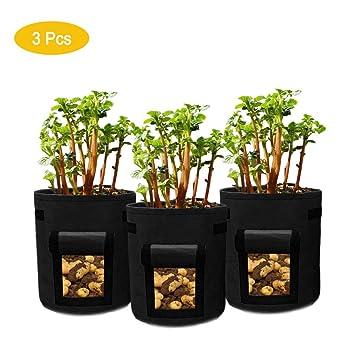 YUHUA ELE 3 Pcs Bolsas de Cultivo de Plantas, 7 Gallon ...