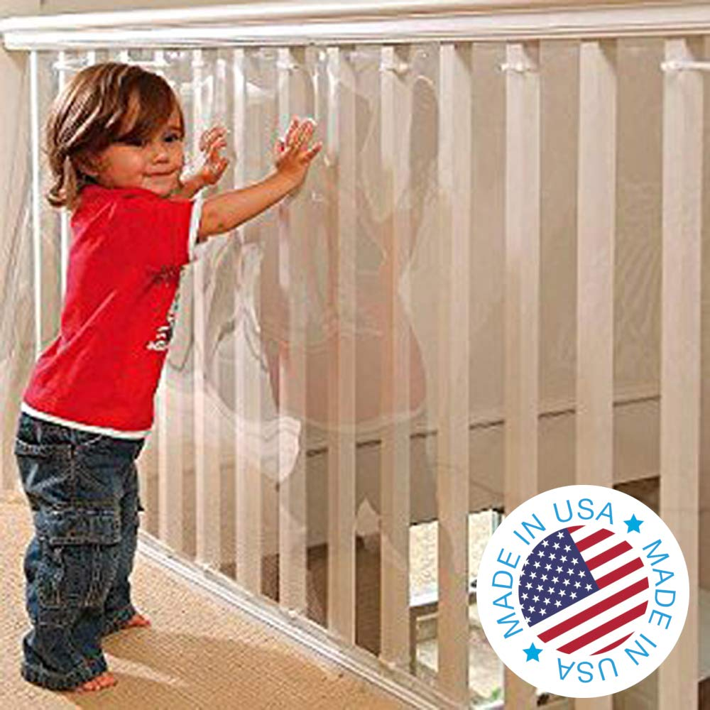 B0000E2DIE Kidkusion Indoor/Outdoor Banister Guard, Clear, 15' 61j0FuSq-NL