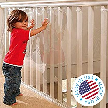 Clear New KidKusion Banister Guard Free Shipping