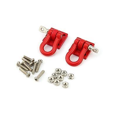 Funnyrunstore T-Power 2pcs 1/10 Metal Hook Shackle Rescue Hook para Traxxas TRX-4 Truck Crawler RC Accesorios de repuestos de Modelo de Coche (Rojo): Juguetes y juegos