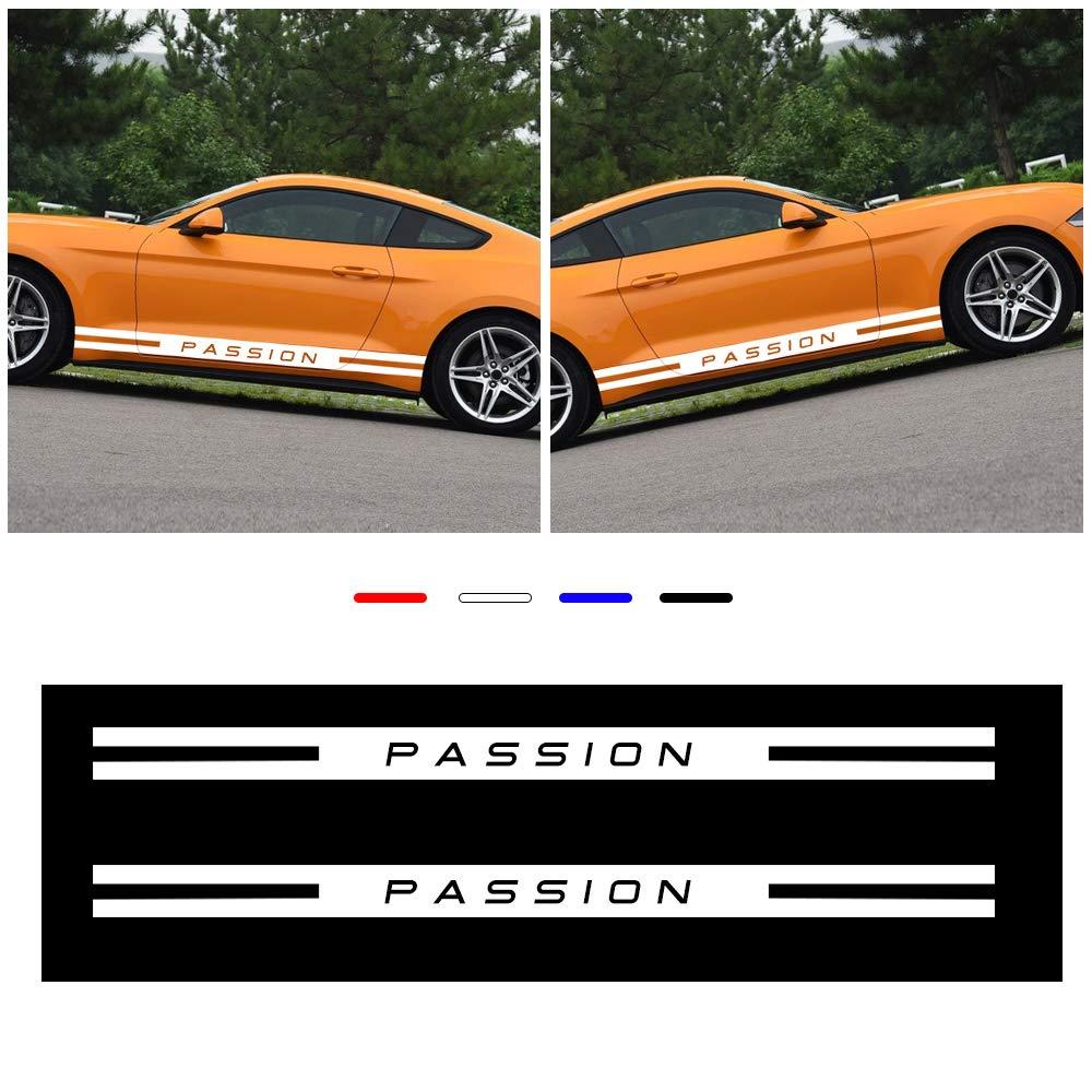 FOUR colors Auto car Side Body Rear Bumper decoration self adhesive sticker