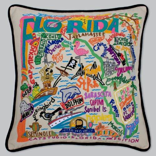 Catstudio Hand-embroidered Pillow - Florida by Catstudio