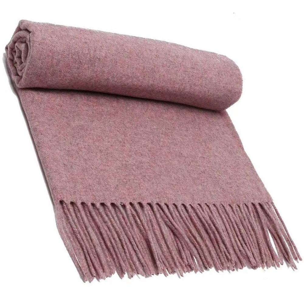 4 Scarf, Pure Wool Scarf Textile, Solid color Warm Pure Cashmere Scarf Men and Women Shawl 200CM