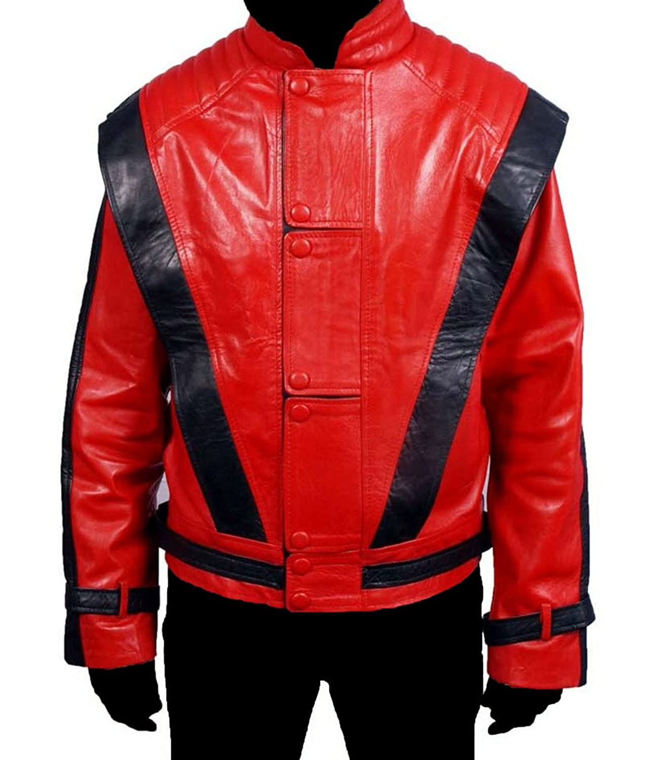 HLS Men's Thriller Sheep Red Leather Jacket
