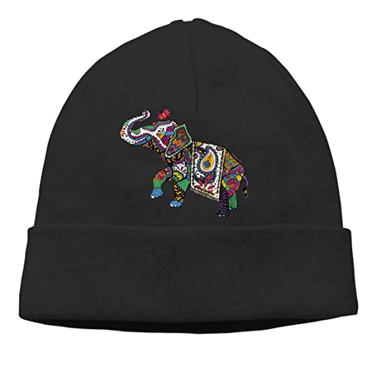 Indian Elephant Beanie Hat Cute Toboggan Hat Winter Hats Knit Hat Beanies  for Men and Women at Amazon Men s Clothing store  459a32eed1e