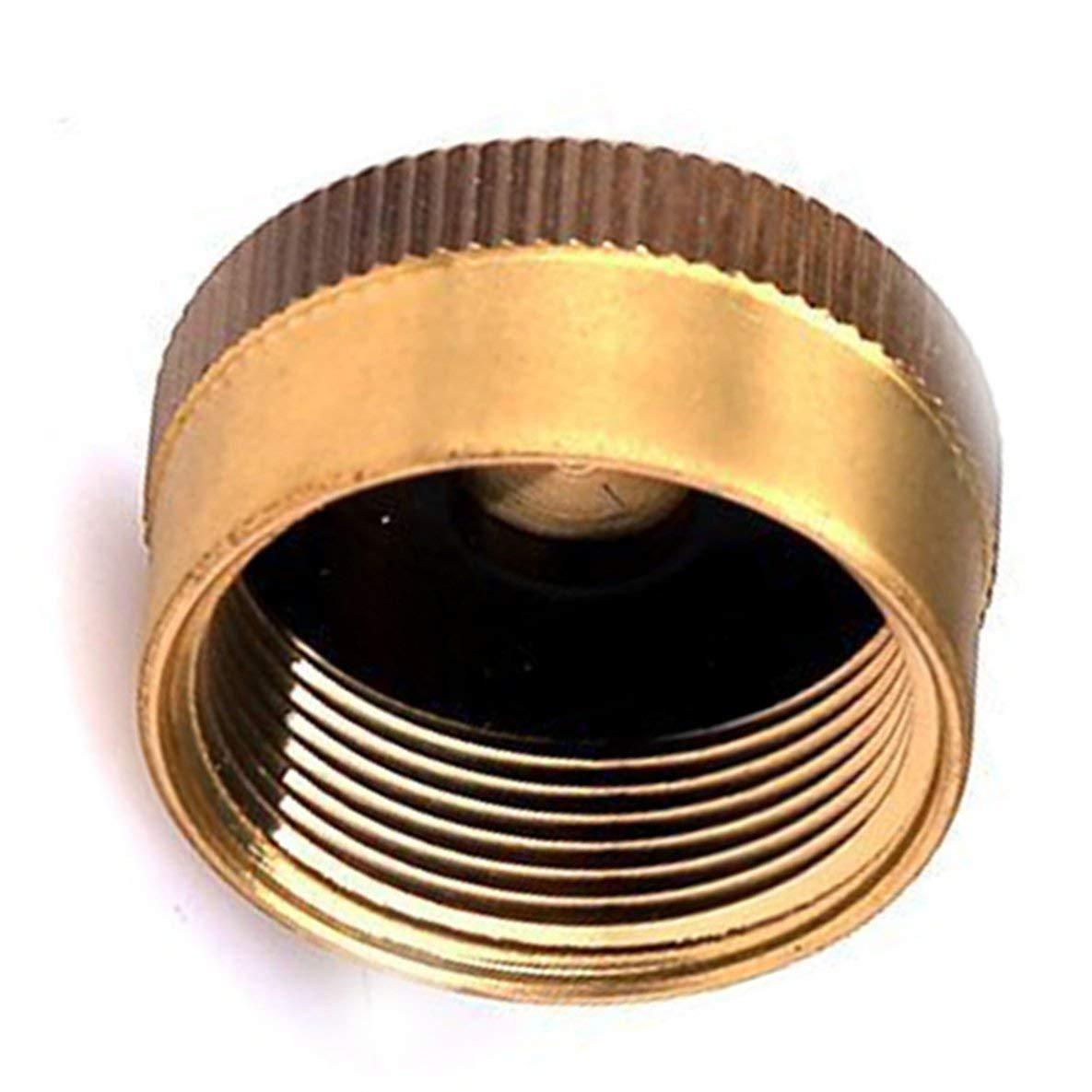 Noradtjcca Tappo Serbatoio in Ottone Solido 1 LB Bombola Serbatoio bombola di Gas Proteggere Tappo sigillato per fornello da Campeggio allaperto di Cottura Universale